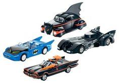 Batman Fans, set of 4 Hot Wheels Batmobile Die Cast Collectible