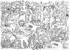 natur wald herbst tiere malvorlage kindergarten | natur erkunden im kindergarten | malvorlagen