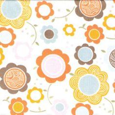 Alexander Henry House Designer - Kitty Garden - Garden Gerbers in Soft Pastel