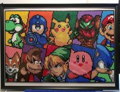 Today's #new convention piece is this #amazing collaboration of some of our #favourite #gaming mascots of all time. This pattern I first found by the super talented @crafter1980 #hama #hamabeads #perler #perlerbeads #pixelart #mario #samus #pikachu #megaman #yoshi #starfox #donkeykong #link #kirby #sonic #zelda #pokemon #sega #nintendo #8bit #retro #cool #collage #nostalgia #picoftheday #potd