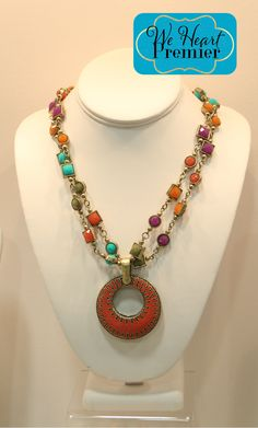 Chiclet necklace and Double Take enhancer #PDstyle #premierdesigns #jewelry jessicanatali.mypremierdesigns.com