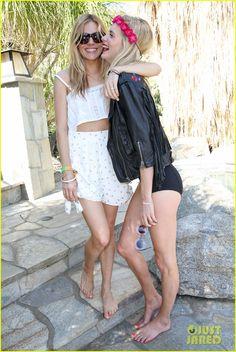 Sienna Miller Parties with Poppy & Cara Delevingne at Superdry's Coachella Brunch!