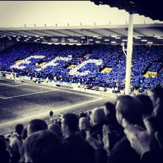 Goodison Park, Everton..... Husband's team of choice. Cause of conflict bcos Daughter also supports Everton but 2 sons support LFC. It's like WW2 here on Derby Day!, ..... Evie x