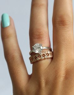 Alternative to the classic wedding band! Love!
