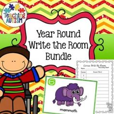 This growing bundle will be updated throughout the year to give you Write the Room activities to use all year round. This will include seasonal…