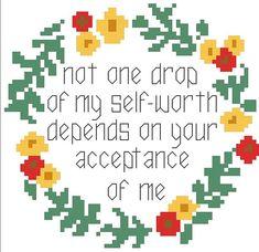 My Self-Worth - Cross Stitch Pattern - Instant Download