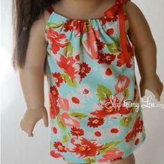 Sew-Up Doll dress (teaching the kids to sew)