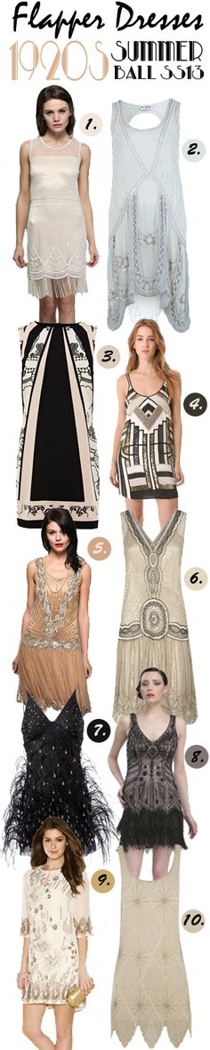 Top 10 1920s Flapper Inspired Dresses for Summer Parties | Vintage Tea Roses #SS13 #Vintage #Gatsby http://vintagetearoses.com/top-10-1920s-flapper-inspired-dresses-for-summer-parties/
