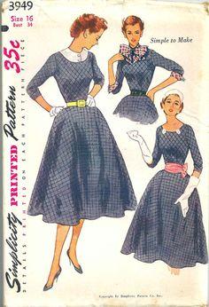 Simplicity Dress Pattern 3949