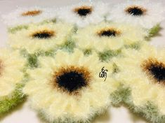 Diy Crochet, Embroidery, Knitting, How To Make, Shower Towel, Washers, Flowers, Projects, Breien
