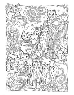 "Creative Haven Creative Cats by Marjorie Sarnat, ""Nine Lives"""