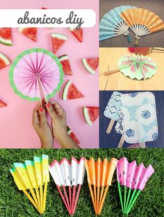 """""""DIY"""" fans to fight heat - Origami - Summer Crafts For Kids, Crafts For Teens, Projects For Kids, Crafts To Sell, Home Crafts, Art For Kids, Diy And Crafts, Paper Crafts, Diy Y Manualidades"""