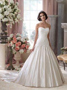 David Tutera for Mon Cheri Bridal Gown Style - 114285 Roberta