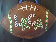 Burlap Football Door Hanging Decoration