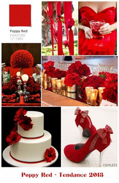 Poppy red wedding...like most of these ideas