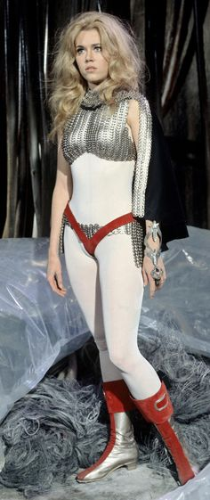 Jane Fonda undressing in zero-gravity. Barbarella Stills (1968) - Jane Fonda - Zimbio