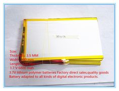 >> Click to Buy << Free shipping New original 10 inch tablet polymer lithium battery 3.7 V 6800 mah 35100170 large capacity #Affiliate