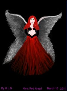 Kim's Red Angel - Computer Drawn