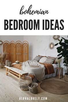 Create the bohemian bedroom of your dreams. - boho style - boho bedroom decor - boho chic - bedroom ideas - bohemian bedroom decor - boho chic inspiration bedroom decoration - boho living room - bedroom diy #bohobedroom #bohochic #bedroomdecorideas