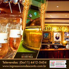 O tour na Cervejaria Bohemia é uma viagem interativa pela história, arte e ciência da fabricação de cerveja. O único centro de experiência cervejeira do país. Descubra tudo sobre cerveja desde a antiguidade até os dias de hoje. Prove Bohemia direto da Fonte e viva toda essa experiência em um ambiente moderno e interativo. Gostou? Então vem curtir! Compre agora: www.ingressocomdesconto.com.br Televendas: (0xx11) 4412-5454