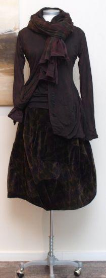 rundholz black label - Ballonrock Velvet Padded print - Winter 2014 - stilecht - mode für frauen mit format...