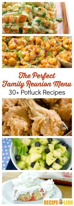 The perfect family reunion menu: Potluck recipes Camping food for large groups Mexica . - New Ideas Family Reunion Food, Family Meals, Family Reunions, Family Gatherings, Appetizers For A Crowd, Food For A Crowd, Party Appetizers, Party Snacks, Recipes For A Crowd