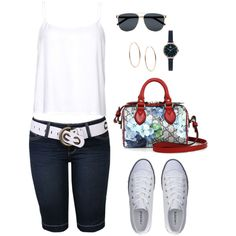 Untitled #984 by gallant81 on Polyvore featuring Lacoste, Gucci, Michael Kors, Orla Kiely and Yves Saint Laurent