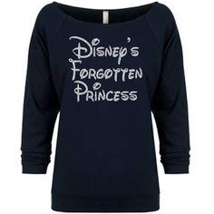 Disney's Forgotten Princess sweatshirt.glitter Sweatshirtoff Shoulder... ($22) ❤ liked on Polyvore featuring tops, hoodies, sweatshirts, black, sweaters, women's clothing, off shoulder shirt, black off the shoulder shirt, black sweatshirt and sweat shirts