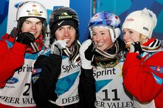 Favourite thing about winter? Moguls! Some of Canada's best: Kingsbury, Bilodeau, Chloe DL and of course, Jenn Heil.