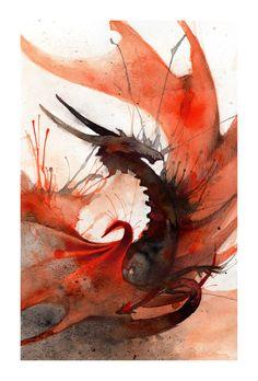 Ink Dragon II by RubisFirenos on deviantART