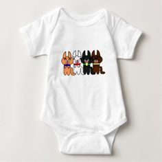 Four Sweet Cats Gang Baby Bodysuit - light gifts template style unique special diy