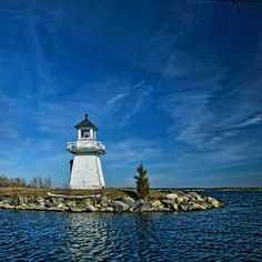 Gas lit lighthouse on St. Lawrence River, Canada
