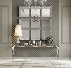 34 Popular Mirror Wall Decor Ideas Best For Living Room - When decorating a room within the home, people tend to think about curtains and the furniture within the room. The one important item they forget abou. Entrance Hall Decor, Entryway Decor, Mirror Decor Living Room, Wall Decor, Flur Design, Hallway Designs, Hallway Decorating, Home And Deco, Dining Room Design