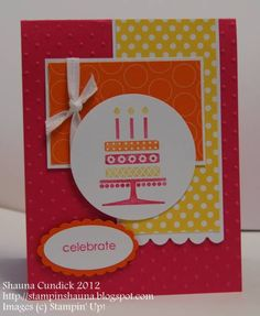 Embellished Events Circle and Cake by stampinshauna - Cards and Paper Crafts at Splitcoaststampers