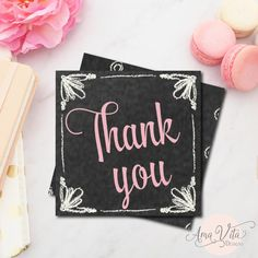 Pink Chalkboard Thank You Tag for Party Favors, INSTANT DOWNLOAD, Digital Printable for Bridal Shower, Baby Shower, Engagement Party Decor