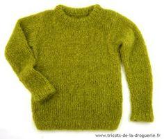 Le pull Donegal, en mohair, un pull chaud et douillet pour lutter contre le froid #tricot #froid @ladroguerie