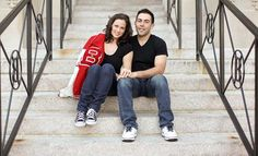 high school sweethearts engagement photos----i sooo knew i kept those jackets for a reason ;