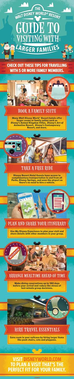 How to plan a Walt Disney World holiday for a family of 5 or more! | larger families at wdw