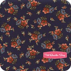Heart of the Prairie Navy Floral Bouquet Yardage SKU# 4988-150 - Fat Quarter Shop