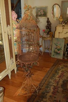 Oh yes....a beautiful Antique Patina Bird Cage!! Momma like a lot!!