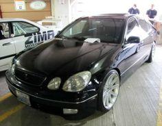 lexus gs300 slammed on 7-series BMW concave wheels