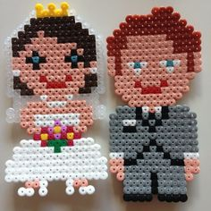 Married couple hama beads by ladykragh