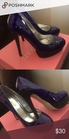 Royal blue shoe dazzle heels Shoe dazzle club heels, only worn once. Super cute Shoe Dazzle Shoes Heels