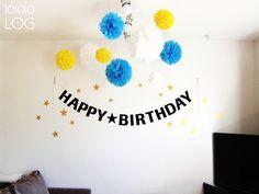 101010LOG 1歳の誕生日-飾り付け。