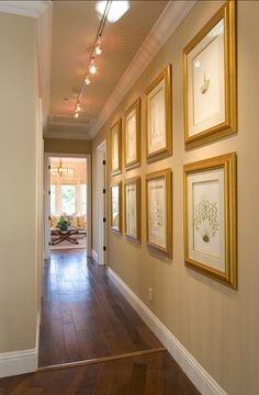 ~ Living a Beautiful Life ~ Picture Gallery. Great idea for hallway picture gallery.
