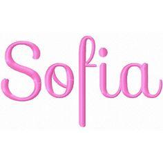 Sofia embroidery font