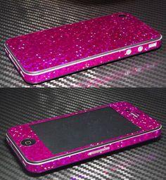 iPhone 4  4S Glitter Bling Metalic Wrap Skins ️ ✔️