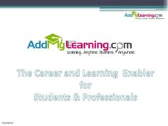 Addmylearning for Students, Freshers, Job-seekers, Learning Officers