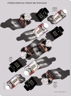 International Perfume Winners clipped from Marie Claire May 2013 - Balenciaga Florabotanica, Chanel Coco Noir, Guerlain La Petite Robe Noir