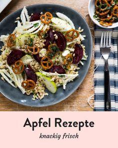 Alles Apfel. Knackig frische Rezepte Marley Spoon, Dessert, Ethnic Recipes, Food, Apple Recipes, Fresh, Easy Meals, Food Food, Postres